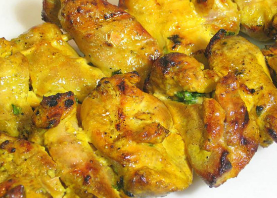 grilled saffron chicken